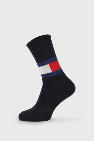 Tommy Hilfiger Vysoké modré ponožky Flag