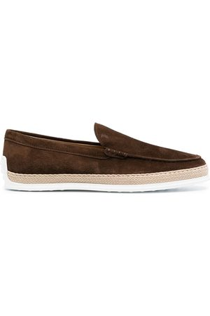 Tod's Espadrille-detail loafers