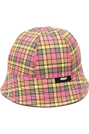 Msgm Check print bucket hat
