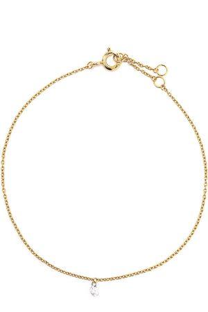The Alkemistry 18kt yellow gold drilled diamond bracelet