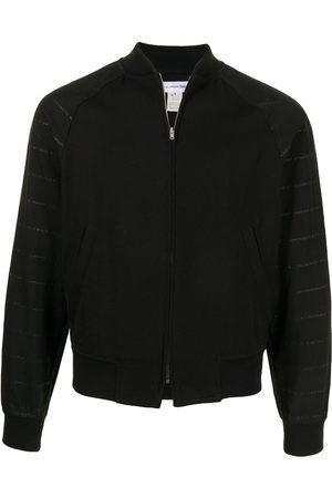 Comme des Garçons Stripe detail bomber jacket