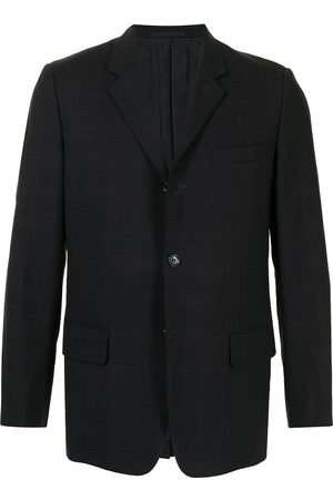 Comme des Garçons Check pattern single-breasted blazer