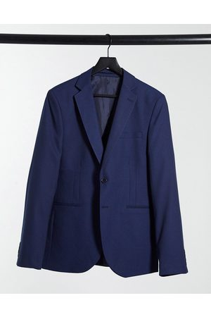 Bolongaro Plain super skinny suit jacket in navy