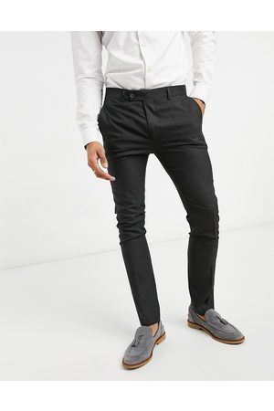 Bolongaro Plain super skinny suit trousers in grey