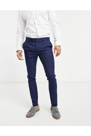 Bolongaro Plain super skinny suit trousers in navy