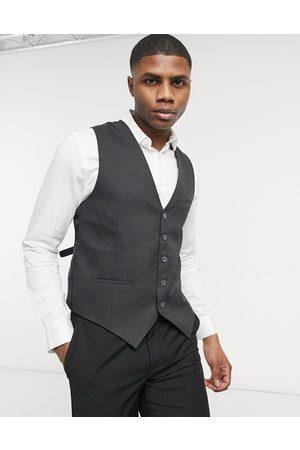 Bolongaro Muži Společenské vesty - Plain super skinny waistcoat in grey
