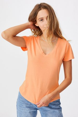 Cotton On Dámské basic triko s krátkým rukávem One apricot
