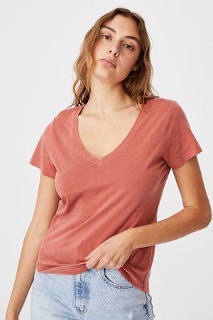 Cotton On Dámské basic triko s krátkým rukávem One cihlová