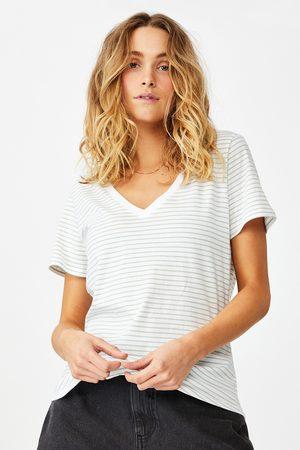 Cotton On Ženy S krátkým rukávem - Dámské basic triko s krátkým rukávem One pruhované