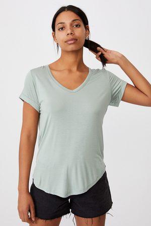 Cotton On Ženy S krátkým rukávem - Dámské basic triko s krátkým rukávem Karly světlezelená