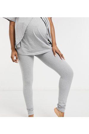 ASOS ASOS DESIGN Maternity mix & match jersey pyjama legging in grey marl