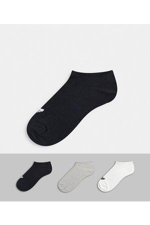 adidas 3 pack trainer socks-Multi