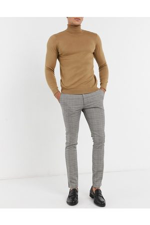 Topman Smart trousers in grey blue check