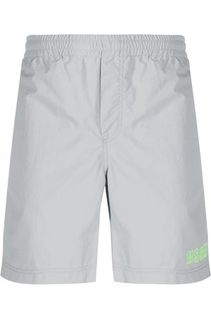 Msgm Embroidered logo track shorts