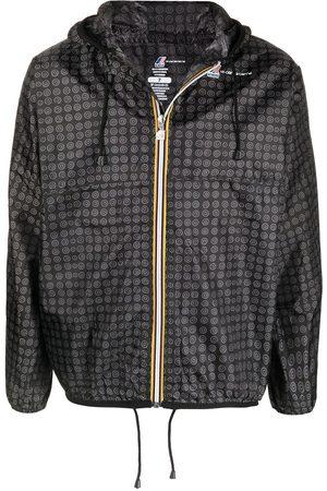 10 CORSO COMO Graphic-print hooded raincoat