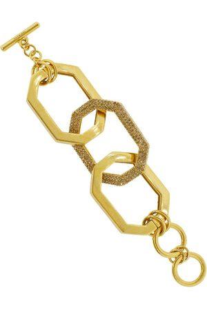 Oscar de la Renta Oversized elongated octagon link bracelet