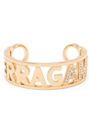 Salvatore Ferragamo Ferragamo rhinestone-embellished cuff bracelet