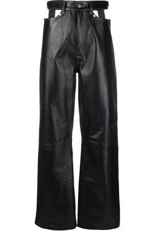 Manokhi Cut-out leather trousers