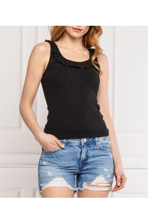 Pepe Jeans Ženy Topy - Dámské černé tílko Diane