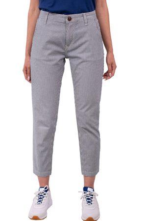 Pepe Jeans Dámské modrobíle pruhované kalhoty Maura