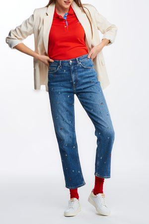 Gant Džíny D1. Straight Hw Cropped Emb Jeans