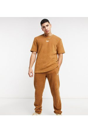 Reebok Muži Tepláky - Classics Toast co-ord joggers in tan terry towelling exclusive to ASOS