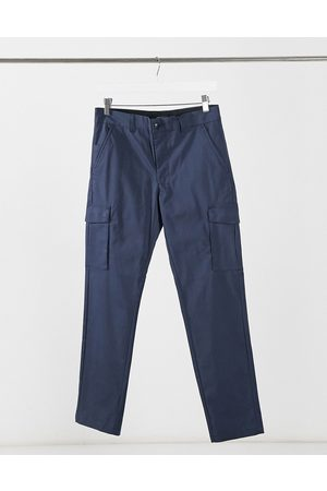 Jack & Jones Muži Kapsáče - Intelligence clean smart slim cargo trousers in navy
