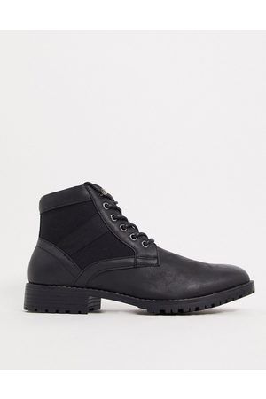 ASOS Vegan lace up boot in black faux leather
