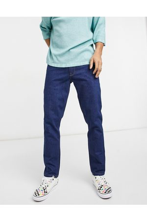 ASOS Stretch slim jeans in raw indigo 70's wash-Blue