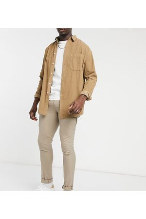 ASOS Tall skinny smart trouser with cargo pocket-Stone
