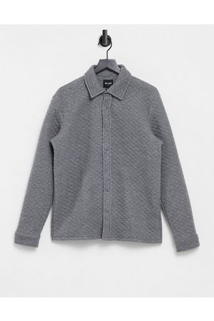 Only & Sons Muži Volnočasové - Premium quilted overshirt in grey