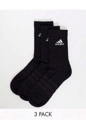 adidas Adidas Training 3 pack crew socks in black