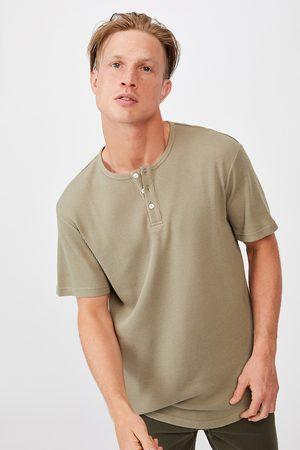 Cotton On Khaki tričko Henley