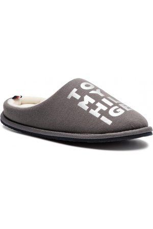 Tommy Hilfiger Ženy Pantofle - Dámské šedé bačkory