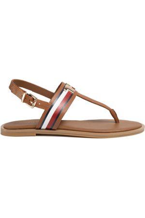 Tommy Hilfiger Ženy Sandály - Dámské hnědé sandály