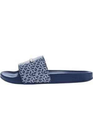 Tommy Hilfiger Ženy Pantofle - Dámské modré pantofle Monogram