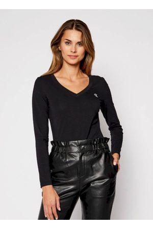 Calvin Klein Dámské černé tričko s dlouhým rukávem