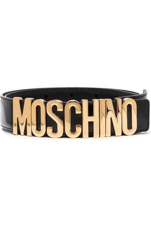 Moschino Ženy Pásky - Logo-plaque buckled belt