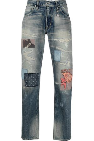Poggy's Box Distressed patchwork jeans