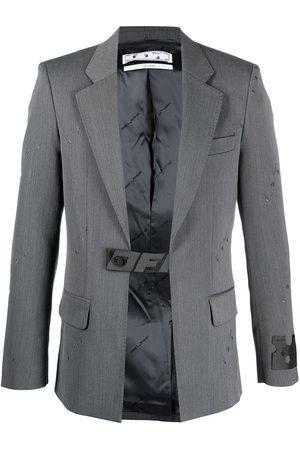 OFF-WHITE Allover logo industrial belt blazer
