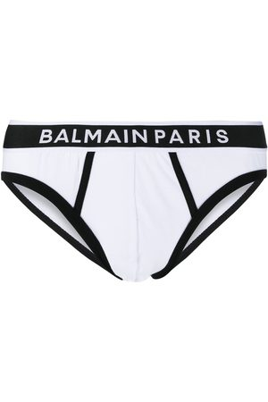 Balmain Logo waistband briefs