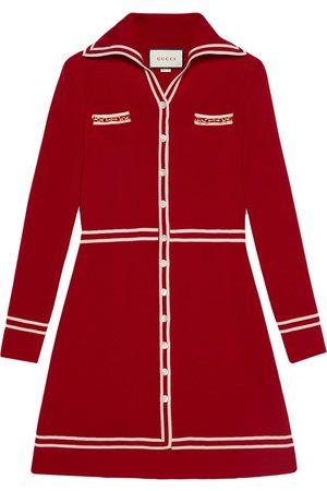 Gucci Two-tone wool short dress