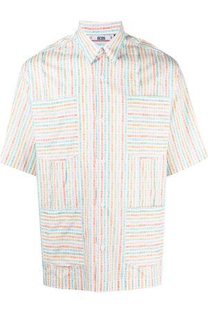 GCDS Striped short-sleeved shirt