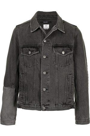 KSUBI Contrast-panel denim jacket