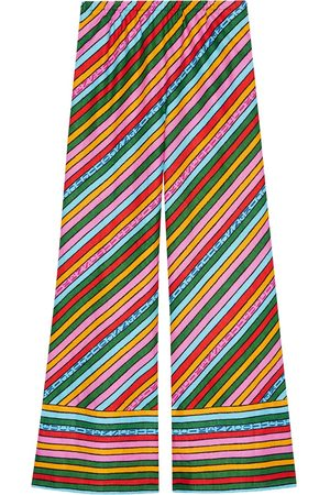 Gucci X Ken Scott striped wide-leg trousers