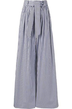 MARTIN GRANT Striped tie-waist palazzo trousers