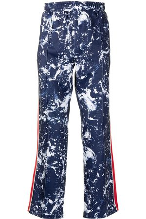 Ports V Printed side-stripe track pants
