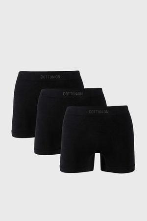 Cotton On Muži Boxerky - 3 PACK černých boxerek Trunk