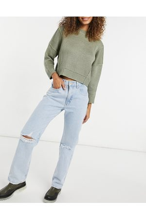 Cotton On Cotton On dad jeans in light wash-Blue