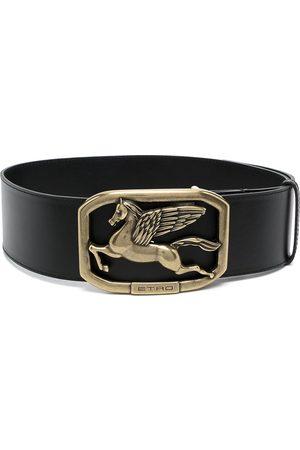 Etro Logo-plaque leather belt